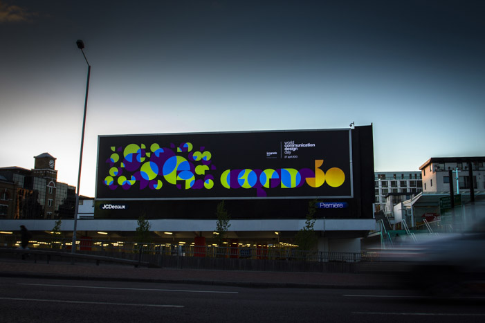 The circles came to life on massive printed version on a JCDecaux backlit billboard.