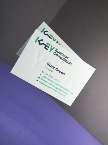 Key Business Consultants business cards front view.