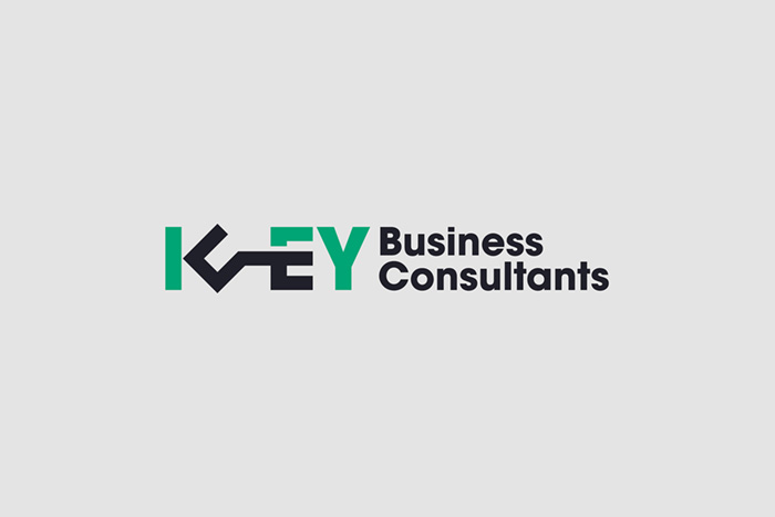 Key Business Consultants logo shown on a solid light grey background.