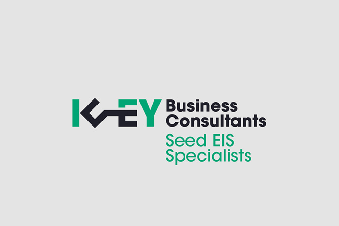 The Key Business Consultants logo lockup is designed to work with many different taglines, such as the 'Seed EIS Specialists'.